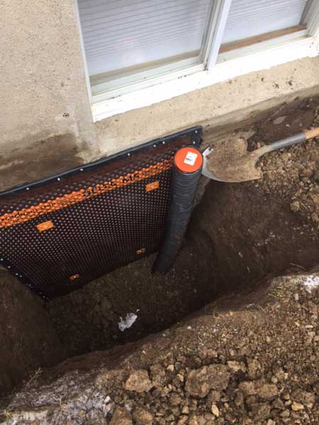 Exterior Waterproofing & Drainage System - Click image for slideshow