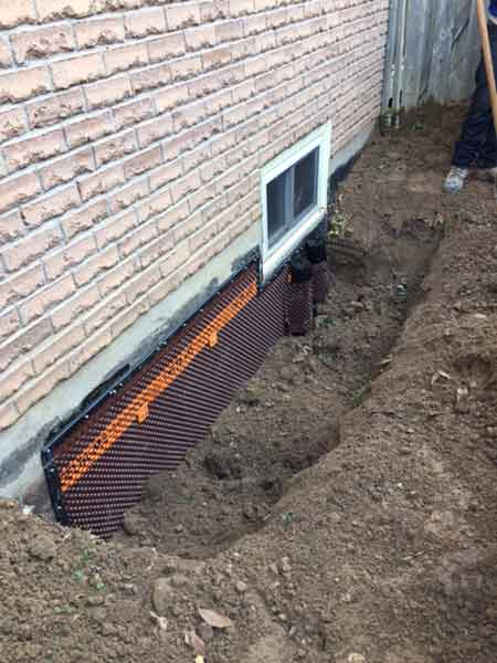 Foundation Waterproofing Repair & Window Well - Click image for slideshow