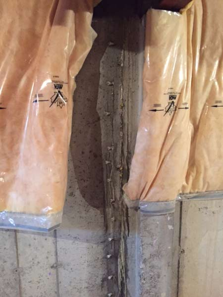 Interior Injection Foundation Repair & Waterproofing - Click image for slideshow